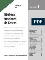 Costos, Calculos y Analisis Con Excel - Distintas Funciones de Costos