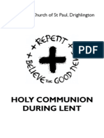 Holy Communion During Lent