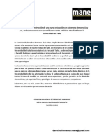 Graves Amenazas Contra Representantes Estudiantiles en La Univalle.