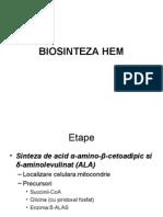 Biosinteza Hem