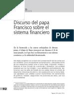 El Sistema Financiero en El Lenguaje Del Papa Francisco