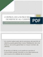 control de los procesos de servicio al cliente