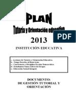Plan Tutoria 2013 v s