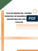 Plan de Mejora del COMUDRS de_San Felipe Yucatán