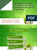 Aktivitas Antioksidan Ekstrak Etanol Daun Binahong (Anredera
