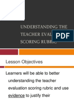 understanding the teacher evaluation scoring rubric