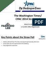 CPAC 2014 Straw Poll