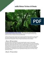 10 Negara Pemilik Hutan Terluas Di Dunia
