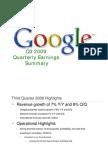 2009Q3 Google Earnings Slides