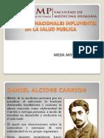 Personajes Ilustres Nacionales de La Salud Publica
