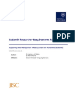 Sudamih Researcher Requirements Report