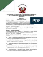 Ley Nº29392 Ley que establece infracciones y sanciones por incumplimiento de la ley general de la persona con discapacidad