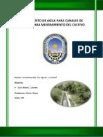 Tratamiento de Agua Para Canales de Regadio Para Mejoramiento Del Cultivo Lino Matos