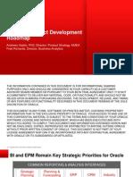 BI and EPM Product Development Roadmap