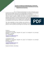 DISEÑO Y EJECUCIÓN DE ACCIONES DE INTERVENCIÓN A PARTIR DE APROXIMACIONES DIAGNÓSTICAS EN UNA INSTITUCIÓN EDUCATIVA DEL MUNICIPIO DE CAUCASIA