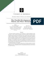 De Swart - The Parallel Development of Matrix and Wave Mechanics