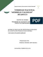 EJECUCION DE PRÁCTICAS         PRE PROFECIONES