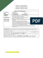 Prueba Diagnóstico Química Tercero