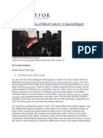 Friedman -- The Egypt Crisis in a Global Context