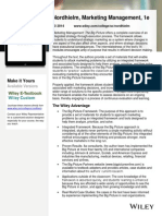 Nordhielm Marketing Management 1e One Pager
