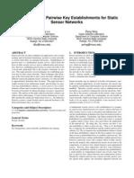 16. Location-Based Pairwise Key Establishments for Static Sensor Networks