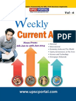 Weekly Current Affairs Update for IAS Exam Vol 6 6th January 2014 to 12th January 2014