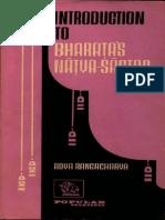 Introduction to Bharata's Natya Shastra - Adya Rangacharya