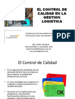 Control de Calidad y Gestion Logistica