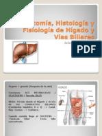 Anatomia, Histologia y Fisiologia Del Higado y Visicula Viliar