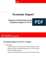 Estimates of Marketing,Economic, And Population Impact on TCCCC Sales