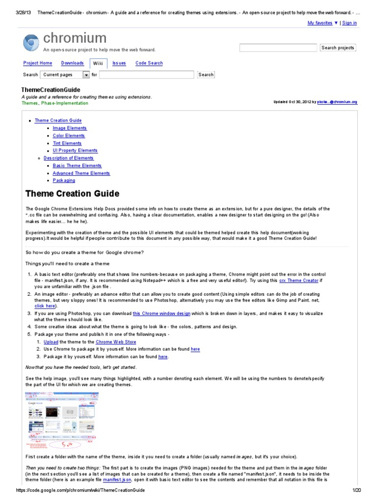 ThemeCreationGuide - Chromium - A Guide and a Reference for Creating
