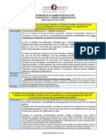 Principais Julgados de 2011 - 1o Semestre - Administrativo