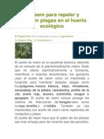 El Neem para repeler y combatir plagas en el huerto ecológico