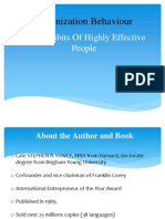 The 7 Habits of Highly Effective People - Organization Behaviour (OB)