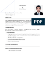 Arif's CV