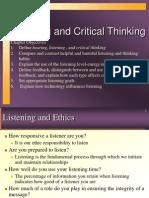 Listening & Critical Thinking