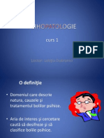 (Curs 1)Psihopatologie