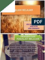 MASALAH BELAJAR