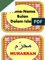 Nama Bulan Islam