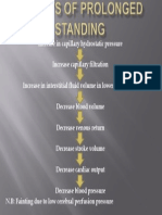 Effects of Prolonged Standing