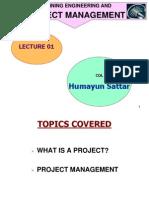 Lec 01 project management