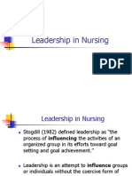nursing essays leadership in nursing transformational leadership in nursing nursing administration ppt