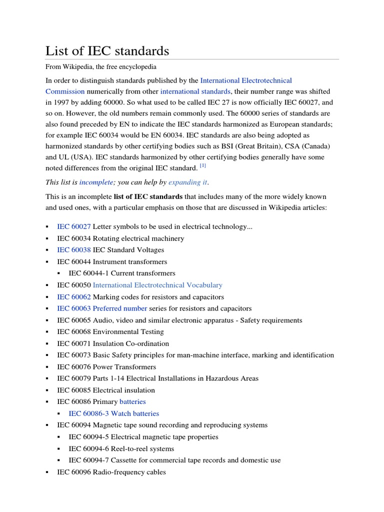 List of iec standards home appliance electromagnetic compatibility fandeluxe Image collections