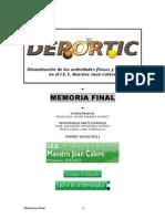 Memoria Final Proyecto DEPORTIC 2010-2011