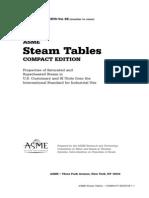 Steam Table (Asme)