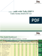 Tally ERP 9 - TAX AUDIT