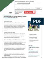 Literature Review on Financial Statements Analysis - College Essay - Shankarjadhav28 1