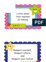 Classroom Rules and Regulation