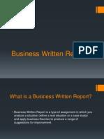 Business Written Report
