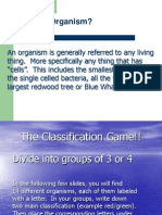 6.3 Classification of Organism Preface